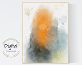 Watercolor abstract art printable.