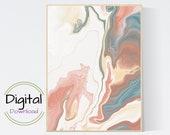 Pink Abstract Wall Art. Printable Wall Art..