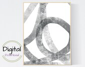 Circles Minimalist Abstract Print. Digital Art.
