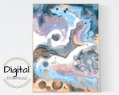 Blue and Pink Wall Art. Printable Wall Art.