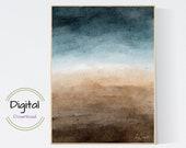 Watercolor landscape Art Print. Printable Wall Art