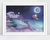 Sky Whale Painting (print of)