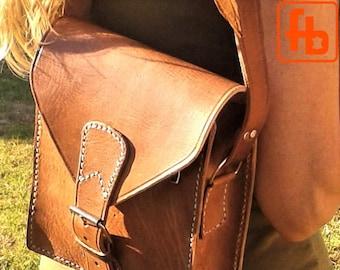 Leather Bag, Handmade, Hand Stitched, Genuine Leather, Cross Body Purse, Man Bag.