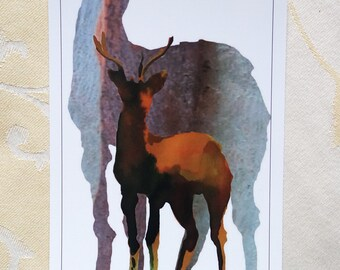 """Large art post card """"the call"""""""