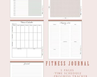 Fitness Journal Pages