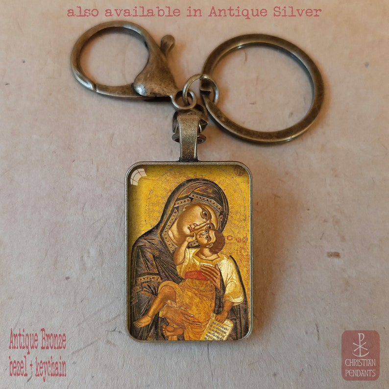 Virgin Mary Keychain Virgin Mary Necklace Baptism Gift Girl Christening Gift Confirmation Gift Baptism Gift boy First Communion Gift