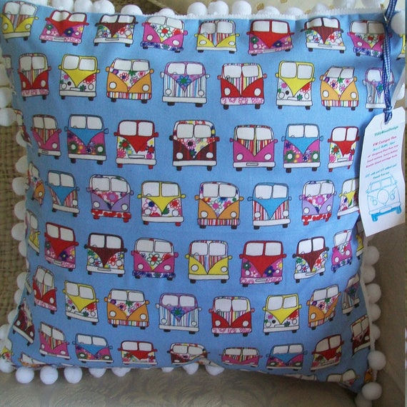 ROSE /& HUBBLE RED VW STYLE CAMPERVAN FABRIC 100/% COTTON 112CM WIDE PER METRE