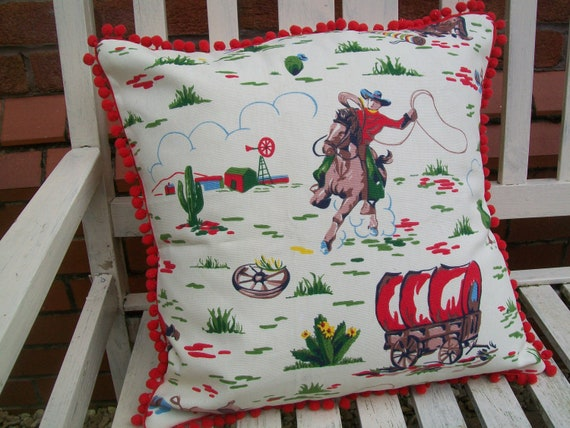 Cath Kidston New Handmade Cowboy Fabric, Cowboy Bedding Cath Kidston