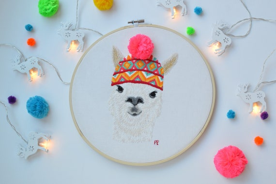 Embroidery Hoop Art Embroidery Pattern Modern Embroidery Etsy