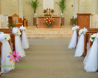 Church pew decor etsy pew flowers for wedding pew decorations wedding church pew aisle decor pew aisle decorations wedding wedding ceremony decor junglespirit Gallery