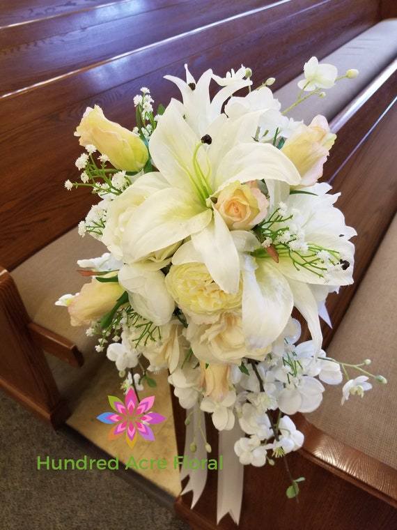 Pew Flowers For Wedding Pew Decorations Wedding Church Pew Etsy