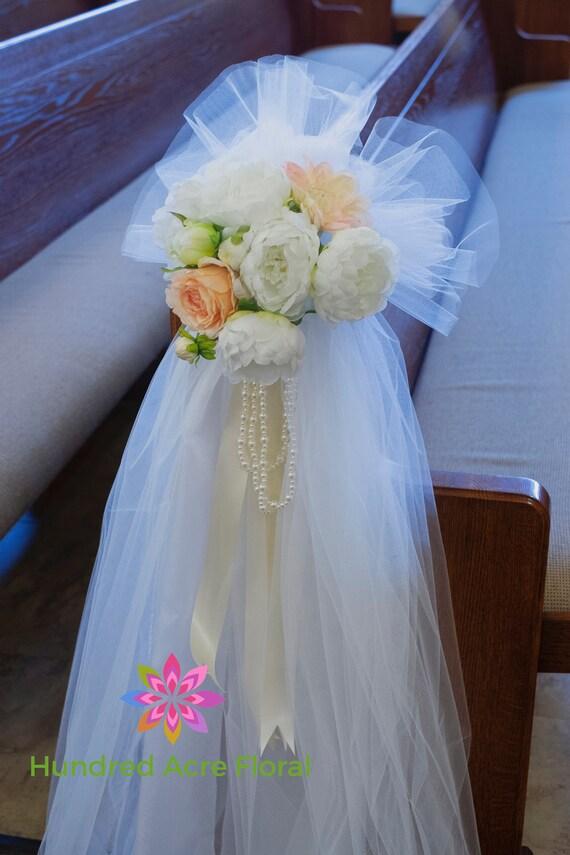 Pew Flowers For Wedding Pew Decorations Wedding Church Pew Etsy