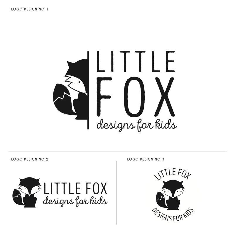 Fox Logo Kids Logo Design Kids Nature Logo Black Fox Logo image 0