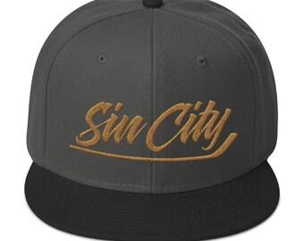 Sin City Vegas Golden Knights Hockey Snapback Hat 08bba094e053
