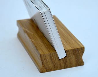 Wood Business Card Holder. Stand for Business Cards. Wooden Card Holder. Office Display. Business Card Holder. Card Holder. Desk organizer.