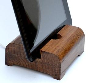 Stylish iPhone Dock Station / iPad Dock Station / iPad Stand / iPhone Stand / Wooden Docking Station for iPhone or iPad  Stand /iPhone 6,7,8