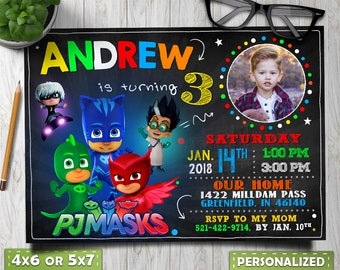 76ebf8e7b9 pj masks invitation