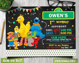 Sesame Street Birthday Invitation For Girl Invite
