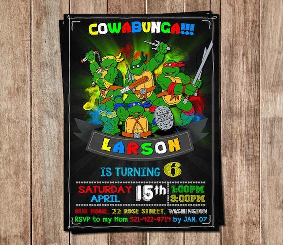 Ninja Turtles Invitation