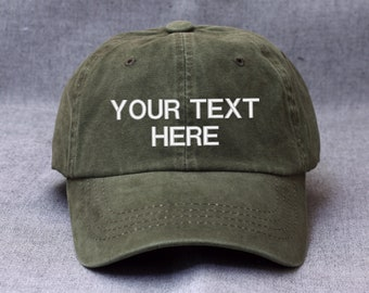 bf12707fe3579 Khaki Washing Custom hat