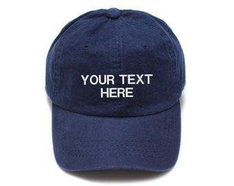 650846032c4 Navy Custom Hat