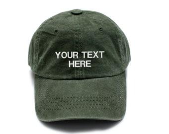 b650a34c9b6 Khaki Custom hat
