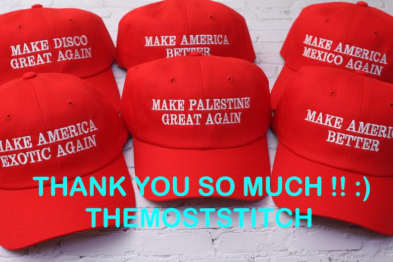 Make America Personalized Hat Embroidered Hat Custom Maga hat Make America Great Again Custom Baseball Cap Make Your Text Great Again