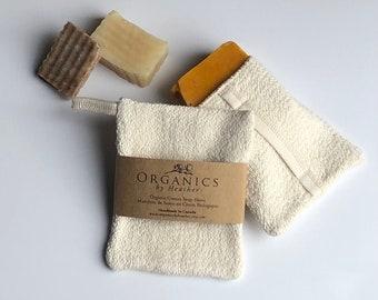 Organic Cotton Soap Sleeve, soap pouch, soap saver