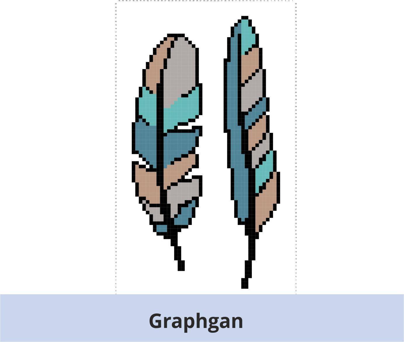 Pixel Schema Veren 50x85 Grafiek Patroon Graphgan Etsy