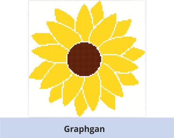 Pixel Schema Zonnebloem 100x100 Grafiek Patroon Graphgan Etsy