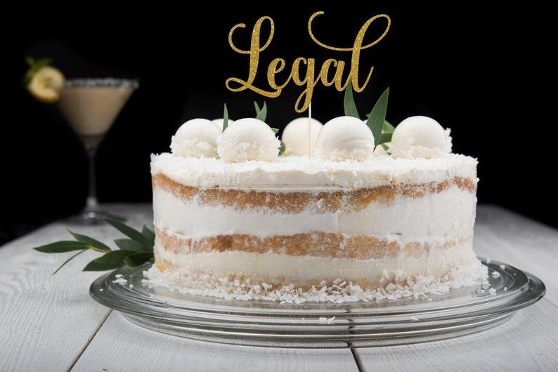 Legal Cake Topper Cake Decoration Glitter Party Decor image 0