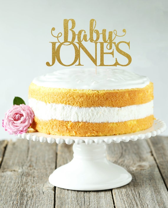 Baby Any Name Cake Topper Cake Decoration Glitter Party   Etsy