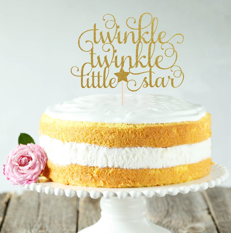 Twinkle Twinkle Little Star Cake Topper Cake Decoration image 0