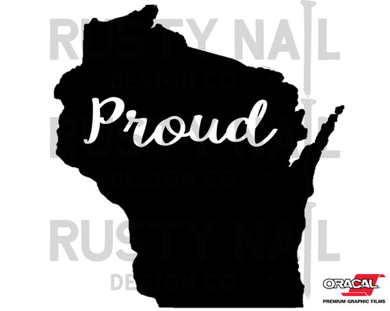 I Love Wisconsin State map Decals /& Stickers