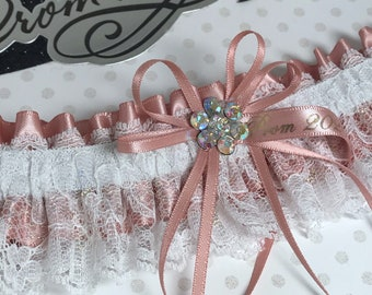 Champagne and Gold Prom Garter Custom Colors Prom Garter Prom Garters