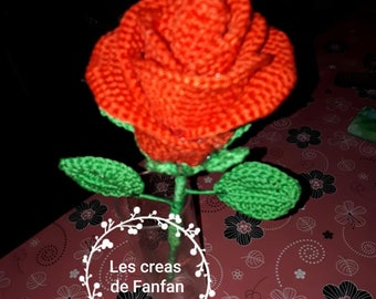 The crochet rose
