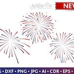 Fireworks Svg 4th of July Fireworks Svg Fireworks Cut Files Silhouette Studio Cricut Svg Dxf Jpg Png Eps Pdf Ai Cdr