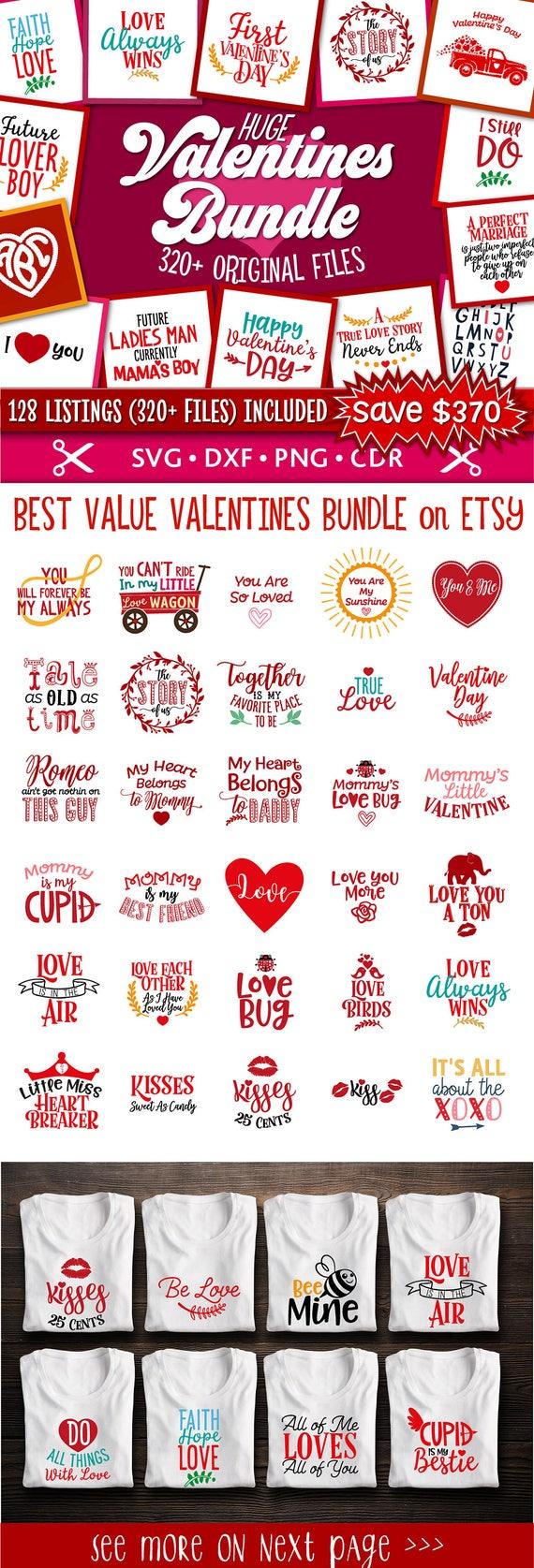 Valentine Svg Valentine S Day Bundle Svg Valentine S Etsy