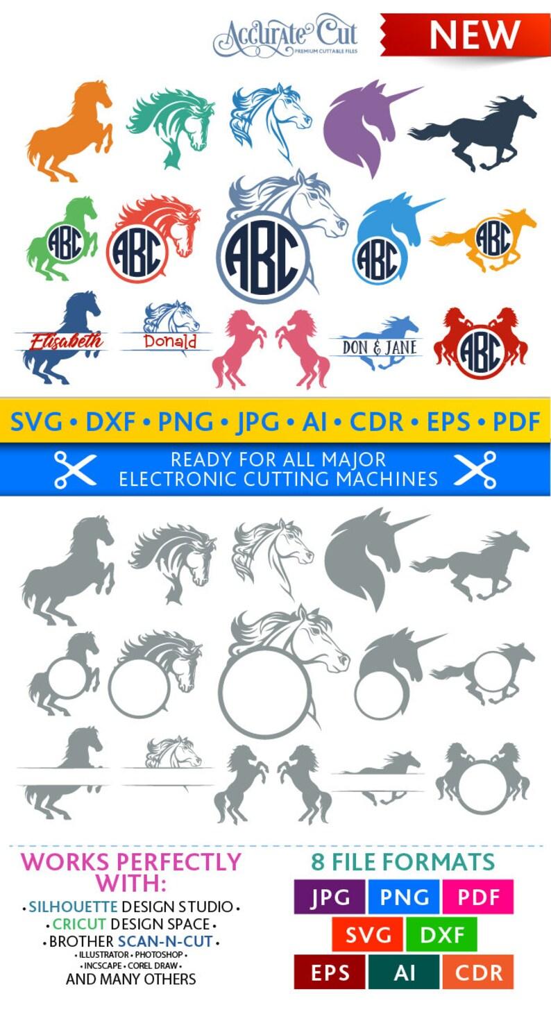 Horse Svg Horse Monogram Frames Svg Horse Frames Svg Horses image 0
