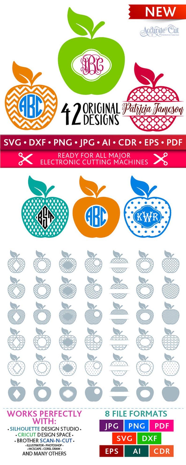 Apple Svg Apple Monogram Frames Svg Apple Frames Svg Apples image 0