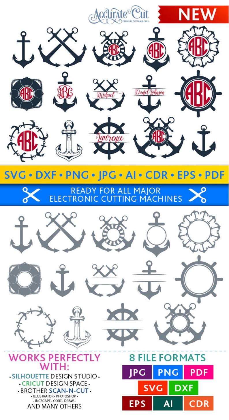 Anchor Svg Anchor Monogram Frames Svg Anchor Frames Svg image 0