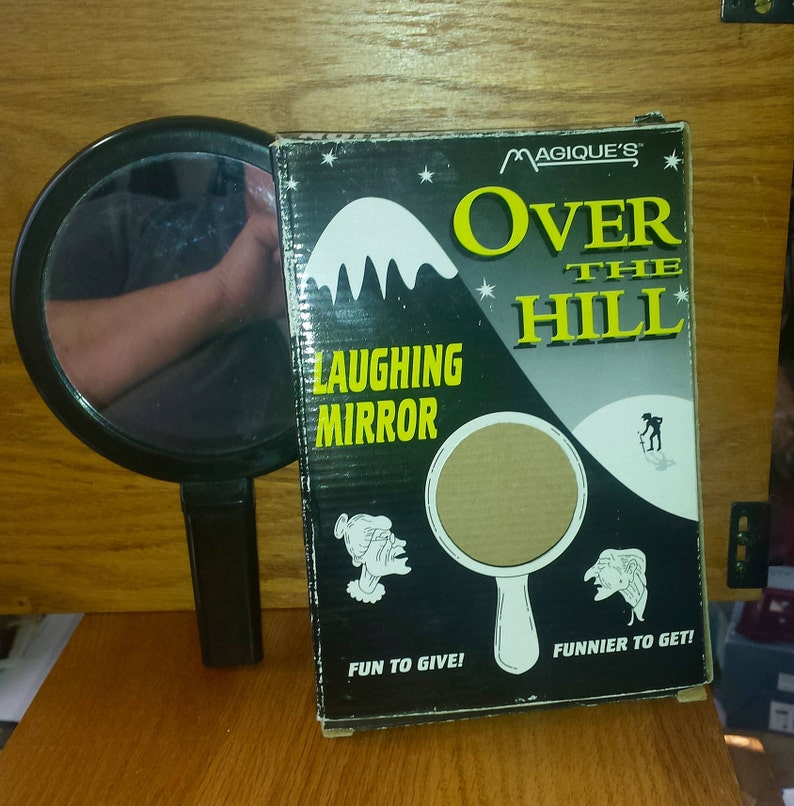 Vintage Over The Hill Laughing Mirror