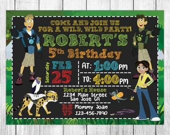 Wild Kratts Invitation, Wild Kratts Birthday Invitation, Wild Kratts Birthday Party, Wild Kratts Thank You Card, Personalized, Digital File