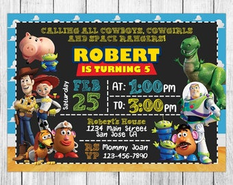 Toy Story Invitation, Toy Story Birthday Invitation, Toy Story Birthday Party, Toy Story Thank You Card, Personalized, Digital File