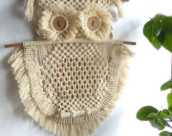 Macrame Owl Wall hangings,Wall decor Art handmade Boho,Owl white,Owl lover gifts,Dreamcatcher,owl decor,owl figurine,owl decor nursery