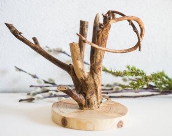 wooden jewelry tree stand / jewelry organizer / jewelry storage / jewelry display / wooden jewelry holder