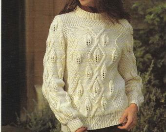 55f091e0f641db 8 X Aran Cardigan Aran Sweaters Knitting Pattern Ladies Men Child Jacket  Aran Jumper Family Wool Knitting patterns PDF Instant Download