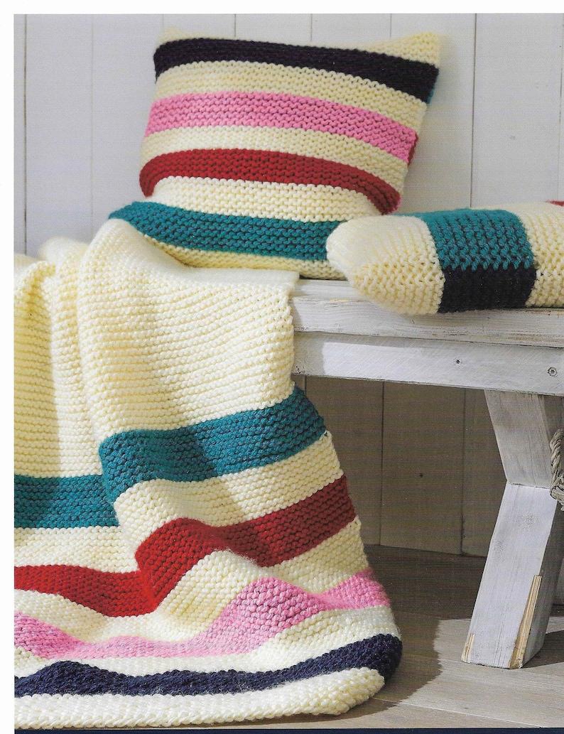 Easy Blanket Knitting Pattern Easy Cushion Knitting Pattern Easy Knitting  Throw Cushion Pattern Beginners Easy Pattern PDF Instant Download