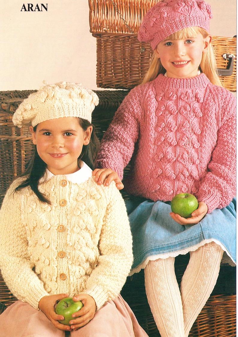 Knitting Pattern Childrens Knitting Pattern Aran Sweaters Etsy