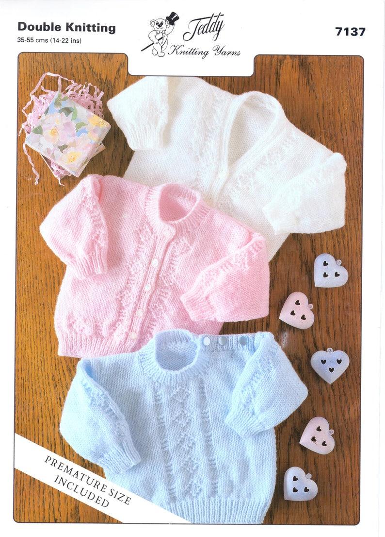 bf6fe64efdbe Baby Cardigans Knitting Pattern PDF Newborn Jumper Cardigan